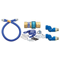 Dormont 16100BPQ2SR24 SnapFast® 24 inch Gas Connector Kit with Double Swivel MAX® and Restraining Cable - 1 inch Diameter