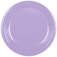 Creative Converting 28193031 10 inch Luscious Lavender Plastic Banquet Plate - 20 / Pack