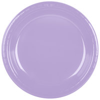 Creative Converting 28193031 10 inch Luscious Lavender Purple Plastic Plate - 20/Pack
