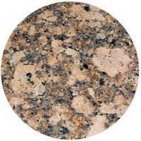 Art Marble Furniture G217 24 inch Round Giallo Fiorito Granite Tabletop