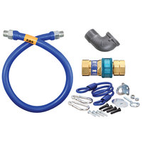 Dormont 16100BPQR24 SnapFast® 24 inch Gas Connector Kit with Elbow and Restraining Cable - 1 inch Diameter