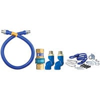 Dormont 1675BPQ2SR72 SnapFast® 72 inch Gas Connector Kit with Double Swivel MAX®, and Restraining Cable - 3/4 inch Diameter