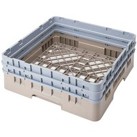 Cambro BR578184 Beige Camrack Customizable Full Size Open Base Rack with 2 Extenders