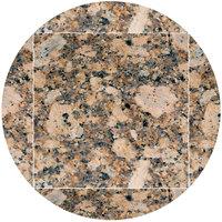 Art Marble Furniture G217 51 inch Round / 36 inch x 36 inch Giallo Fiorito Drop Leaf Granite Tabletop