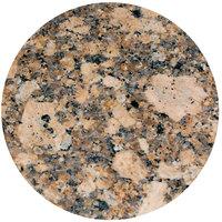 Art Marble Furniture G217 36 inch Round Giallo Fiorito Granite Tabletop