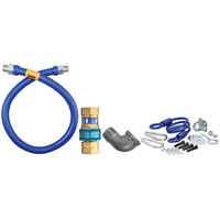 Dormont 1675BPQR72 SnapFast® 72 inch Gas Connector Kit with Elbow and Restraining Cable - 3/4 inch Diameter