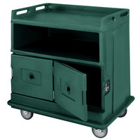 Cambro MDC24F192 Granite Green Beverage Service Cart with 2 Doors - 44 1/2 inch x 30 inch x 44 inch
