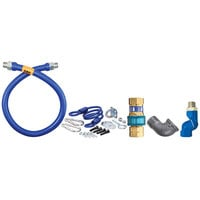 Dormont 16100BPQSR72 SnapFast® 72 inch Gas Connector Kit with Swivel MAX®, Elbow, and Restraining Cable - 1 inch Diameter