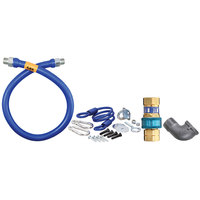 Dormont 16125BPQR72 SnapFast® 72 inch Gas Connector Kit with Elbow and Restraining Cable - 1 1/4 inch Diameter
