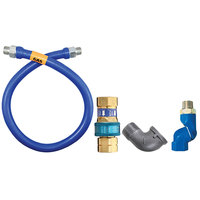 Dormont 16100BPQS60 SnapFast® 60 inch Gas Connector Kit with Swivel MAX® and Elbow - 1 inch Diameter