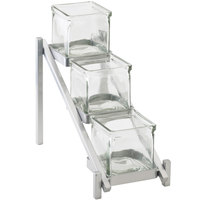 Cal-Mil 1149-74 One by One Three Tier Silver Jar Display - 6 1/4 inch x 13 1/4 inch x 11 1/2 inch