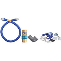 Dormont 1650BPQR72 SnapFast® 72 inch Gas Connector Kit with Elbow and Restraining Cable - 1/2 inch Diameter