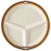 GET CP-10-RD 10 1/4 inch Diamond Rodeo 3-Compartment Plate - 12/Case