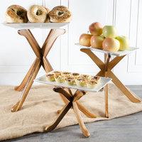 Tablecraft RFTT3ACA 3-Piece Fold-A-Way Acacia Riser Set