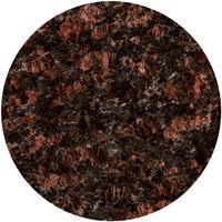 Art Marble Furniture G215 24 inch Round Tan Brown Granite Tabletop