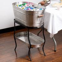 Tablecraft GTSS2313N Brickhouse Stainless Steel Beverage Tub Set - 27 1/2 inch x 15 inch x 32 inch
