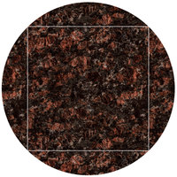 Art Marble Furniture G215 51 inch Round / 36 inch x 36 inch Tan Brown Drop Leaf Granite Tabletop