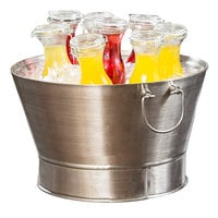 Tablecraft BTD21 21 inch x 12 inch Brushed Stainless Steel Double Wall Beverage Tub