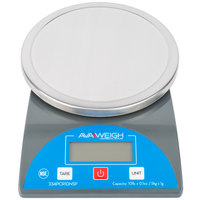 AvaWeigh PCR10NSF 10 Ib. Round Digital Portion Control Scale