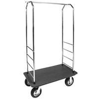 CSL 2099PLS-010 Easy-Mover 42 inch x 22 inch x 73 inch Bellman Cart with Recycled Plastic Deck
