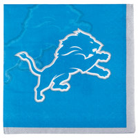 Creative Converting 659511 Detroit Lions 2-Ply Beverage Napkin - 192/Case