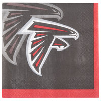 Creative Converting 659502 Atlanta Falcons 2-Ply Beverage Napkin - 192/Case