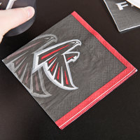 Creative Converting 659502 Atlanta Falcons 2-Ply Beverage Napkin - 192/Case