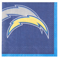 Creative Converting 659526 Los Angeles Chargers 2-Ply Beverage Napkin - 192/Case
