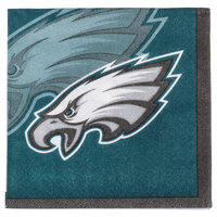 Creative Converting 659524 Philadelphia Eagles 2-Ply Beverage Napkin - 192/Case