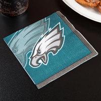 Creative Converting 659524 Philadelphia Eagles 2-Ply Beverage Napkin - 192/Case