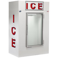 Leer 40CG 51 inch Indoor Cold Wall Ice Merchandiser with Straight Front and Glass Door