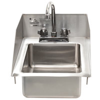 Advance Tabco DI-1-5SP-EC Drop-In Stainless Steel Sink with Side Splash - 10 inch x 14 inch x 5 inch