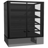 Structural Concepts Impulse CSC3223 Non-Refrigerated Countertop Bakery Display Case / Merchandiser 32 inch - Black 7 Cu. Ft.