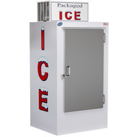 Leer 30CS 36 inch Outdoor Cold Wall Ice Merchandiser with Straight Front and Stainless Steel Door