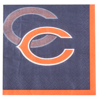 Creative Converting 659506 Chicago Bears 2-Ply Beverage Napkin - 192/Case