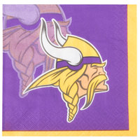 Creative Converting 659518 Minnesota Vikings 2-Ply Beverage Napkin - 192/Case
