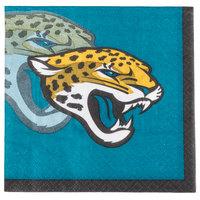 Creative Converting 659515 Jacksonville Jaguars 2-Ply Beverage Napkin - 192/Case