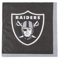 Creative Converting 659523 Oakland Raiders 2-Ply Beverage Napkin - 192/Case