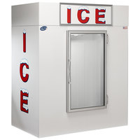 Leer 65CG 64 inch Indoor Cold Wall Ice Merchandiser with Straight Front and Glass Door