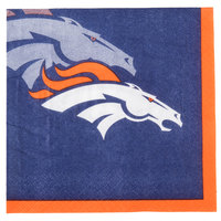Creative Converting 659510 Denver Broncos 2-Ply Beverage Napkin - 192/Case