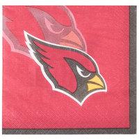 Creative Converting 659501 Arizona Cardinals 2-Ply Beverage Napkin - 192/Case