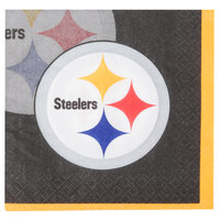 Creative Converting 659525 Pittsburgh Steelers 2-Ply Beverage Napkin - 192/Case