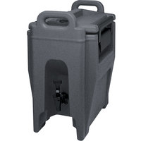 Cambro UC250191 Ultra Camtainer 2.75 Gallon Granite Gray Insulated Beverage Dispenser