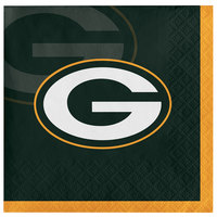 Creative Converting 659512 Green Bay Packers 2-Ply Beverage Napkin - 192/Case