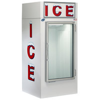 Leer 30AG 36 inch Indoor Auto Defrost Ice Merchandiser with Straight Front and Glass Door