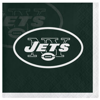 Creative Converting 659522 New York Jets 2-Ply Beverage Napkin - 192/Case