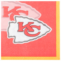 Creative Converting 659516 Kansas City Chiefs 2-Ply Beverage Napkin - 192/Case