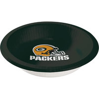 Creative Converting 179512 Green Bay Packers 20 oz. Paper Bowl - 96/Case