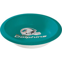 Creative Converting 179517 Miami Dolphins 20 oz. Paper Bowl - 96/Case