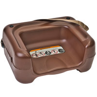 Koala Kare KB854-09S Brown Plastic Booster Seat with Safety Strap - Dual Height